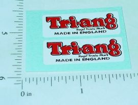 Pair Triang Text Logo Replacement Stickers