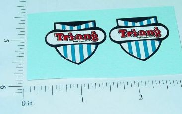 Pair Triang Badge Logo Replacement Stickers Main Image