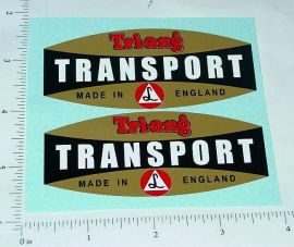 Triang Transport Delivery Truck Sticker Set
