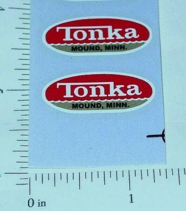 Pair 1962 to 1969 Tonka Oval Logo Stickers Main Image