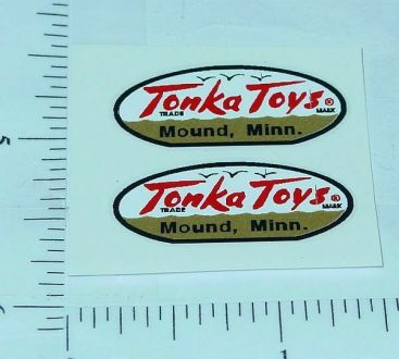 Pair 1958 to 1961 Tonka Oval Logo Stickers Main Image