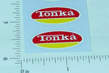 Pair 1974-75 Tonka R/Y Oval Door Logo Stickers Main Image