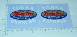 Tonka Express Cabover Utility Truck Sticker Set