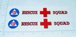 Tonka Rescue Squad Box Van Stickers