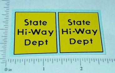 Tonka State Hiway Dept. Door Sticker Set Main Image