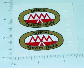 Tonka 1953 to 56 MM Tow Truck Stickers
