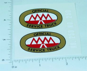 Tonka 1953 to 56 MM Tow Truck Stickers Main Image