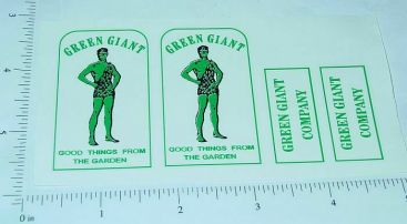 Tonka Green Giant Stake Delivery Truck Stickers Main Image