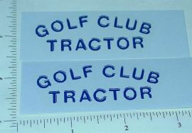 Tonka Golf Club Tractor Sticker Set