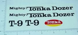 Mighty Tonka T-9 Bulldozer Sticker Set