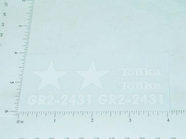 Tonka Army Jeep/Truck/Dozer Sticker Set Main Image