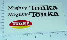 Mighty Tonka Dump Truck Sticker Set