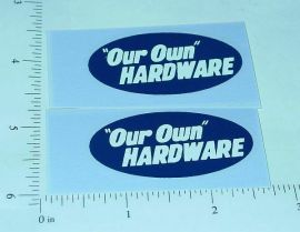 Tonka Our Own Hardware Utility Truck Stickers
