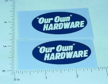Tonka Our Own Hardware Utility Truck Stickers Main Image