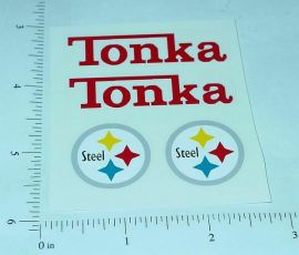 Tonka Pickup Camper Sticker Set