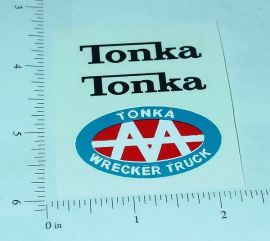 Tonka AA Jeep Wrecker Sticker Set