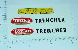Tonka Trencher Construction Vehicle Sticker Set