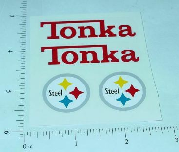 Tonka Pickup Camper Sticker Set Main Image