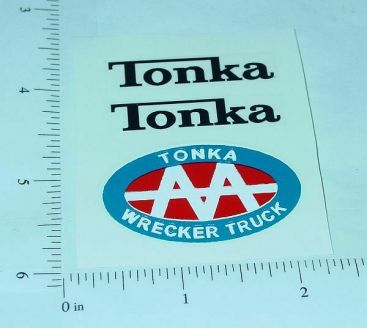 Tonka AA Jeep Wrecker Sticker Set Main Image