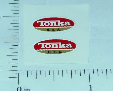 Pair Tiny Tonka 1970-73 Logo Stickers TK-039B Main Image