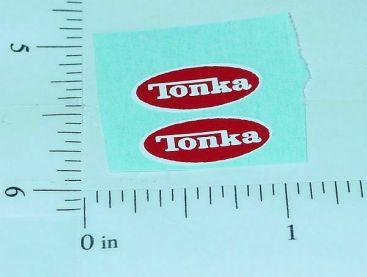 Pair Tiny Tonka 1976-77 Logo Stickers Main Image