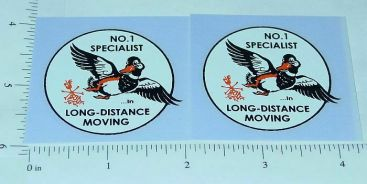 Tonka Allied Moving #1 Specialist Duck Stickers Main Image