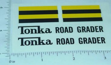 Tonka Road Grader 1962-Newer Sticker Set Main Image