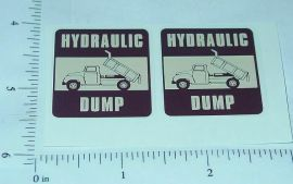 Tonka Bronze Hydraulic Dump Truck Sticker Set