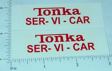 Tonka 1963 Ser -Vi - Car Sticker Set Main Image