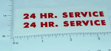 Tonka 24 Hour Service Wrecker Stickers Main Image