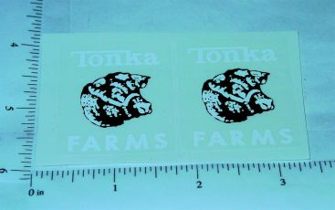 Tonka 1962 to 69 Farms Stake Truck Sticker Pair Main Image