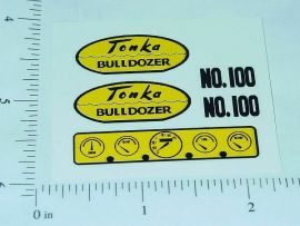 Tonka Bulldozer 1959-61 Replacement Stickers