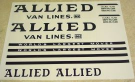 Tonka Allied Moving Semi Truck/Trailer Stickers