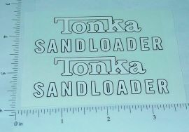 Tonka 1961/62 Sandloader Sticker Set