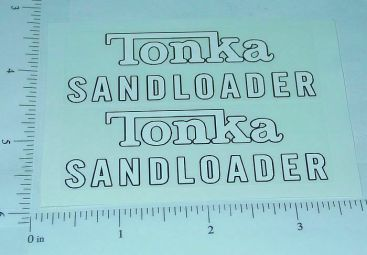 Tonka 1961/62 Sandloader Sticker Set Main Image