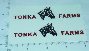 Tonka Horse Farms Pre-1962 Trailer Stickers Main Image