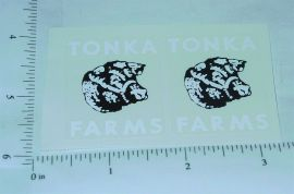Tonka 1960 Farms Stake Truck Stickers