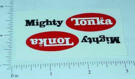 Mighty Tonka 1975-Newer Oval Logo Stickers