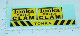 Tonka Mobile Clam (Post 1964) Stickers