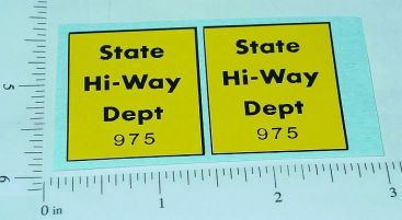 Tonka State Hiway Dept. 975 Sticker Set Main Image