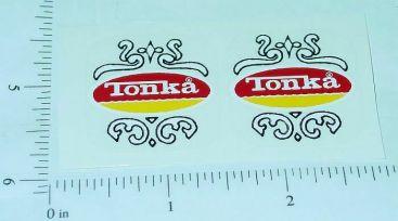 Tonka New Style Fire Truck Door Stickers Main Image