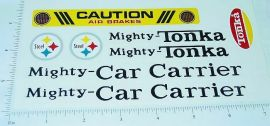 Mighty Tonka Car Carrier Sticker Set