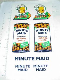Tonka Minute Maid Orange Juice Box Van Stickers