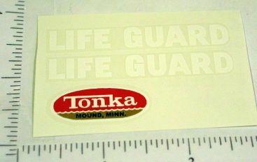 Tonka Lifeguard Jeep Sticker Set Main Image