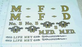 Tonka 1955 MFD Fire Ladder Truck Stickers