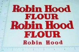 Tonka Robin Hood Flour Box Van Sticker Set