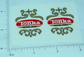 Tonka 1963/64 Fire Jeep Pumper Stickers