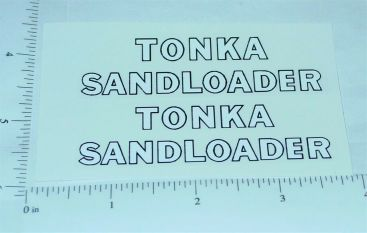 Tonka Sandloader Construction Vehicle Stickers Main Image