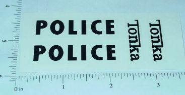 Tonka Police Jeep Vehicle Sticker Set Main Image