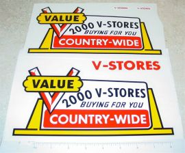 Tonka V-Stores Semi Truck Sticker Set